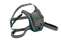 3M 6582 Black Silicone Head Strap - 4-Point Suspension - 051141-55887