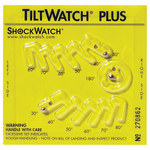 Shipping Supply Yellow Tilt watch™ Plus with Label - 5.6 in x 4.9 in x.2 in - SHP-8344