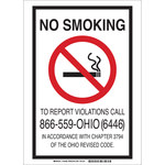 Brady B-401 High Impact Polystyrene Rectangle White No Smoking Sign - 7 in Width x 10 in Height - 103491