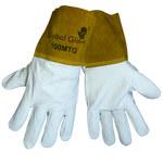 Global Glove 100MTC White Large Grain Cowhide Kevlar/Leather Welding Glove - Wing Thumb - 100MTC/LG