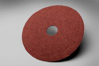 3M 381C Coated Aluminum Oxide Brown Fibre Disc - Fiber Backing - 80 Grit - Medium - 5 in Diameter - 7/8 in Center Hole - 20054