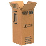 Shipping Supply Kraft 1 Gallon Plastic Jug Haz Mat Boxes - 6 in x 6 in x 12.75 in - SHP-2219