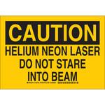 Brady B-555 Aluminum Rectangle Yellow Laser Hazard Sign - 10 in Width x 7 in Height - 129162