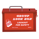 Honeywell Red Steel Group Lockout Box - HONEYWELL GLB01