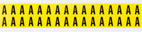 Brady 34 Series 3420-A Black on Yellow Vinyl Cloth Letter Label - Indoor - 11/32 in Width - 1/2 in Height - 3/8 in Character Height - B-498