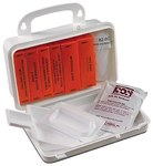 North First Aid Kit - 5.5 in Width - 8.375 in Length - 3.125 in Height - Plastic Case Construction - 35-P10BFK