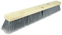 Weiler Vortec Pro 770 Push Broom Head - Gray Polystyrene Fine 3 in Bristle - 18 in Hardwood Block - 77013