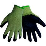 Global Glove S966 Blue 9 Knit Work Glove - Latex Palm Only Coating - S966/9