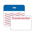 Brady Securalert Blue Identification Label 95654 - Printed Text = CONTRACTOR - Clip - 3 in Width - 3 in Length - 754476-95654