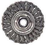 Dynabrade Steel Wheel Brush 0.02 in Bristle Diameter - Arbor Attachment - 4 in Outside Diameter - 78805