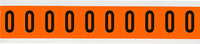 Brady 6560-0 Black on Orange Vinyl Number Label - Indoor / Outdoor - 7/8 in Width - 1 1/2 in Height - 1 in Character Height - B-946
