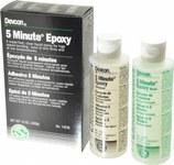 Devcon 5 Minute Amber Two-Part Epoxy Adhesive - Base & Accelerator (B/A) - 15 oz Tube - 14200