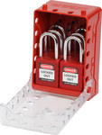 Brady Ultra Compact Red Lock Box Kit - 4 in Width - 5.7 in Height - 12, 6 stored Padlock Capacity - 754473-58894