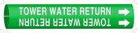 Brady 4143-C Green Plastic Water Snap-On Pipe Marker - 1 1/4 in Character Height - B-915