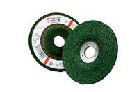 3M Green Corps Standard (Type 27) Ceramic Depressed-Center Wheel - 36 Grit - Very Coarse Grade - 4 1/2 in Diameter - 7/8 in Center Hole - 1/4 in Thick - 55992