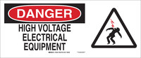 Brady B-120 Fiberglass Reinforced Polyester Rectangle White Electrical Safety Sign - 17 in Width x 7 in Height - 70388