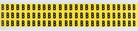 Brady 34 Series 3410-B Black on Yellow Vinyl Cloth Letter Label - Indoor - 11/32 in Width - 1/2 in Height - 3/8 in Character Height - B-498