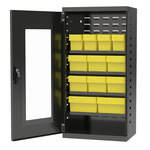 Akro-Mils Akrodrawers 350 lb Charcoal Gray Steel 18 ga Non-Stackable Secure Mini-Cabinet - 13 1/4 in Overall Length - 19 1/4 in Width - 38 in Height - 2, 4, 6 Drawer - Lockable - ACQV4CAST YELLOW