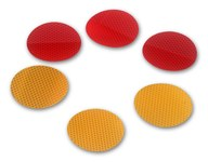 3M Diamond Grade 989-72-3 Red Round Conspicuity Reflector - 22561