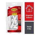 3M Command Plastic White Hooks - 99313