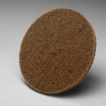 3M Scotch-Brite Hookit CP-HA Non-Woven Aluminum Oxide Brown Hook & Loop Disc - Medium - 5 in Diameter - 60230