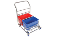 Contec Vertiklean 6.5 gal Blue, Red Cart With Bucket - 2650