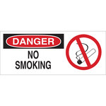 Brady B-120 Fiberglass Reinforced Polyester Rectangle White No Smoking Sign - 17 in Width x 7 in Height - 95269