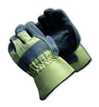PIP 80-8855 Gray/White Large Split Cowhide Leather Work Gloves - Wing Thumb - 10.6 in Length - 80-8855/L