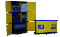 Brady Blue/Yellow Absorbent Storage Cabinet 107772 - 26 in Width - 50 in Length - 7.75 in Height - 662706-83157