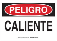 Brady B-302 Polyester Rectangle White Equipment Safety Sign - 14 in Width x 10 in Height - Laminated - Language Spanish - 124072