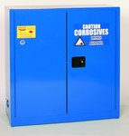 Eagle 30 gal Blue Steel Hazardous Material Storage Cabinet - 43 in Width - 44 in Height - Floor Standing - 048441-33190