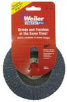 Weiler Non-Woven Type 29 Zirconium Flap Disc - 80 Grit - Medium - 4 in Diameter - 5/8 in Center Hole - 30826