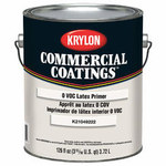 Krylon Commercial Coatings K2104 White Latex Paint Primer - 1 gal Pail - 00392