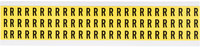 Brady 34 Series 3410-R Black on Yellow Vinyl Cloth Letter Label - Indoor - 11/32 in Width - 1/2 in Height - 3/8 in Character Height - B-498