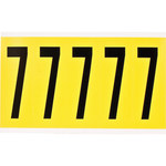Brady 34 Series 3460-7 Black on Yellow Vinyl Cloth Number Label - Indoor - 1 3/4 in Width - 5 in Height - 3 7/8 in Character Height - B-498