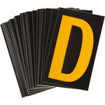 Brady Bradylite 5890-D Yellow on Black Letter Label - Outdoor - 1 3/8 in Width - 1 7/8 in Height - 1 1/2 in Character Height - B-997