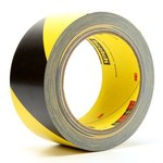 3M 5702 Black / Yellow Marking Tape - 2 in Width x 36 yd Length - 5.4 mil Thick - 04585