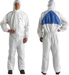 3M 4540+ White Large Polyethylene/Polypropylene Disposable General Purpose & Work Coveralls - Fits 39 to 43 in Chest - 051131-49807