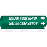 Brady 5801-O White on Green Polyester Water Wrap-Around Pipe Marker - 1/2 in Character Height with Right Arrow - B-689