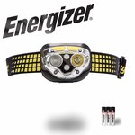 Energizer Yellow/Gray Headlamp - 400 Lumens Red, White - (3) AAA 6 Modes - 13209