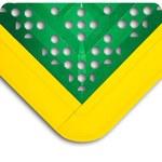 Wearwell F.I.T 546 Green/Yellow PVC Anti-Fatigue Modular Mat Kit - 27 in Width - 30 in Length - 715411-00782