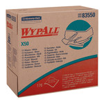 Kimberly-Clark Wypall X50 White Hydroknit Wiper - Pop-up Dispenser - 176 sheets per pack - 12.5 in Overall Length - 9.1 in Width - 83550