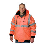 PIP 333-1762OR Orange Large Polyester (Shell) Work Jacket - 5 Pockets - Rollaway Hood - Fits 31.5 in Chest - 616314-11743