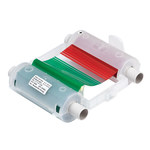 Brady Globalmark 76786 Black / Blue / Green / Red Printer Ribbon Cartridge - 4.11 in Width - 200 ft Length - Cartridge