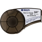 Brady M21-750-595-OR Black on Orange Vinyl Continuous Thermal Transfer Printer Label Cartridge - 3/4 in Width - 21 ft Length - B-595