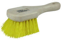 Weiler 791 Utility Scrub Brush - Yellow Polypropylene Bristle - Foam Block - 8 in Overall Length - 79120