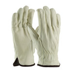 PIP 77-218 Natural Large Grain Cowhide Leather Driver's Gloves - Straight Thumb - 10 in Length - 77-218/L