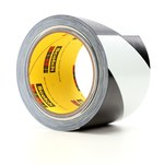 3M 5700 Black / White Warning Tape - Pattern/Text = Striped - 3 in Width x 36 yd Length - 5.4 mil Thick - 68820