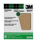 3M Aluminum Oxide Brown Sand Paper Sheet - 9 in Width x 11 in Length - 80 Grit - Coarse - 99405