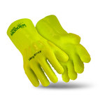HexArmor Ugly Mudder 7212 Yellow 9 PVC/Nitrile Supported Chemical-Resistant Gloves - ANSI A4 Cut Resistance - PVC-Nitrile Full Coverage Coating - 13 in Length - Rough Finish - 7212-L (9)